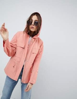 Asos Design Tie Waist Rainwear Jacket