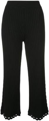 Jonathan Simkhai cropped straight-leg trousers