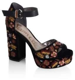 Sam Edelman Marsha Embroidered Platform Sandals