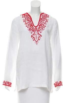 Michael Kors Embellished Linen Tunic
