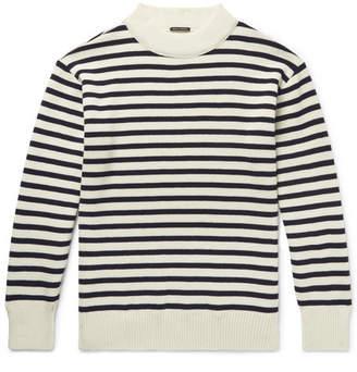 Bellerose Zwart Striped Wool Sweater