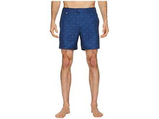 Original Penguin Polka Dot Lemon Fixed Volley Stretch Swim Shorts Men's Swimwear