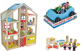 Melissa & Doug High-Rise Dollhouse and Car Bund