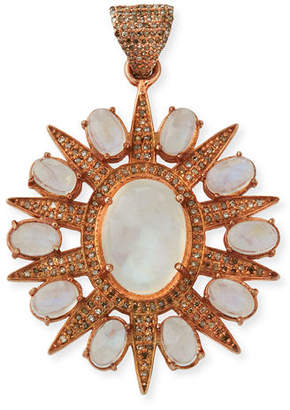Margo Morrison Rainbow Moonstone Sun Charm w/ Diamonds