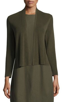 Eileen Fisher Sleek Ribbed Cropped Cardigan, Surplus $238 thestylecure.com