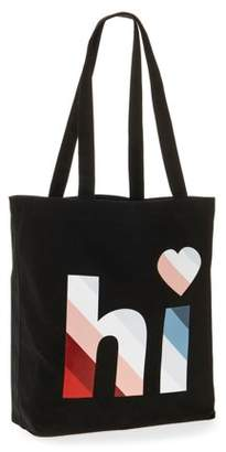 "EV1 from Ellen DeGeneres Canvas ""Hi"" Market Tote"