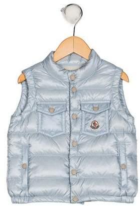 Moncler Girls' Mock Neck Down Vest