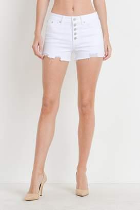 Just USA Hi-Rise Button Shorts
