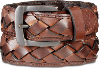 Levi's Men's Braided Leather Belt
