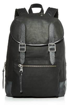 John Varvatos Militia Waxed Canvas Backpack