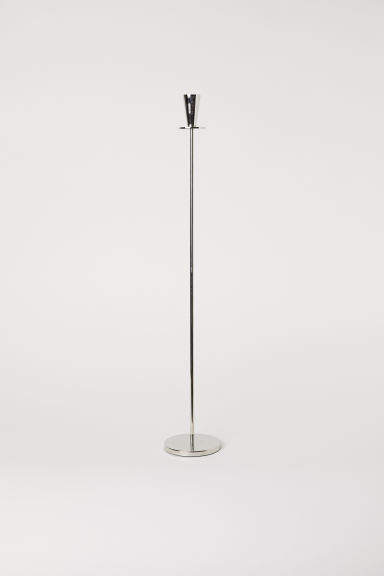 H&M - Tall Metal Candlestick - Silver