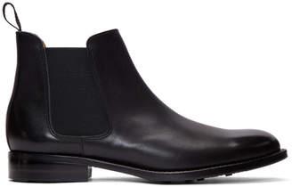 Comme des Garcons Black Leather Chelsea Boots