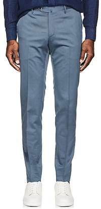 Pt01 Men's Virgin Wool-Cotton Super-Slim Trousers - Blue Size 40