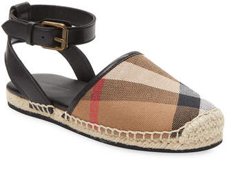 Burberry Plaid D'orsay Espadrille