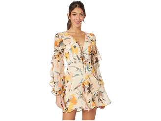 250f18dc863 BCBGeneration Cocktail Tie Front Ruffle Woven Dress