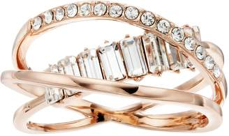 Brilliance+ Brilliance Baguette Wrap Ring with Swarovski Crystals