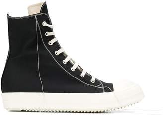 Rick Owens contrast lace-up sneakers
