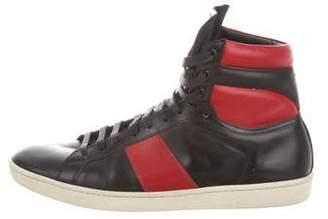 Saint Laurent SL/02H Leather Sneakers