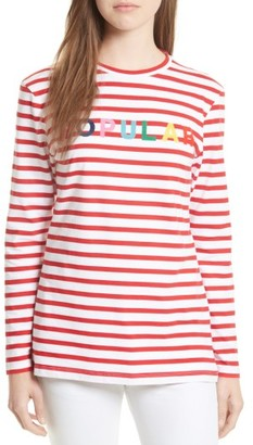 Women's Etre Cecile Popular Stripe Tee $120 thestylecure.com
