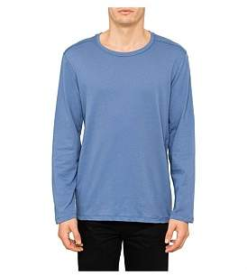 R & E RE: Zip Hem Plain Long Sleeve T-Shirt