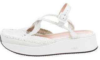 Stephane Kelian Woven Platform Sandals