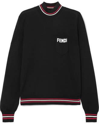 Fendi Silk Turtleneck Sweater - Black