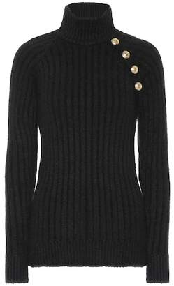 Balmain Embellished turtleneck sweater