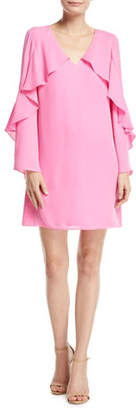 Kobi Halperin Bethenny Ruffled Long-Sleeve Dress