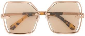 Karen Walker Nirvana oversized frame sunglasses