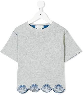 Stella McCartney shell appliqué T-shirt