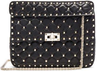 Valentino Medium Rockstud Shoulder Bag in Black | FWRD