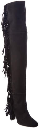 Giuseppe Zanotti Fringed Suede Over-The-Knee Boot