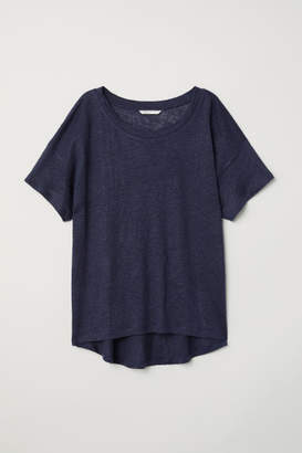 H&M Linen T-shirt - Blue