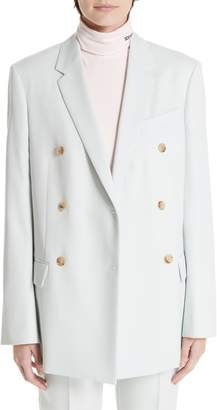 Calvin Klein Wool Twill Double Breasted Blazer