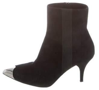 Calvin Klein Suede Pointed-Toe Booties Black Suede Pointed-Toe Booties