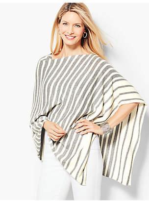 Talbots Asymmetric Poncho - Stripe