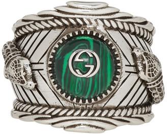 Gucci Silver Garden Logo Ring