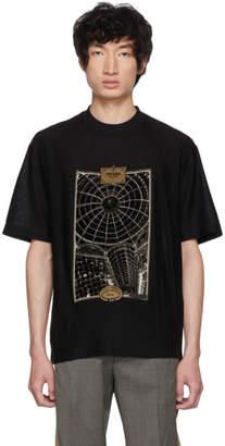 Prada Black Jacquard Jersey T-Shirt