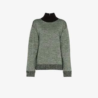 Dries Van Noten relaxed fit wool-blend turtleneck top