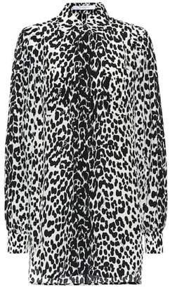 Givenchy Leopard silk shirt dress
