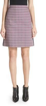 Burberry Stanforth Plaid A-Line Skirt