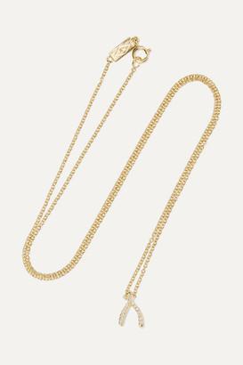Jennifer Meyer Wishbone 18-karat Gold Diamond Necklace