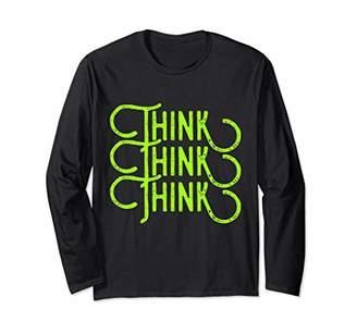 Think Think Think AA NA Sobriety Fall Tee