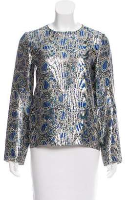 Maison Rabih Kayrouz Silk Brocade Top w/ Tags