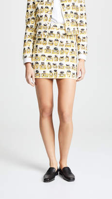 Moschino Perfume Print Miniskirt