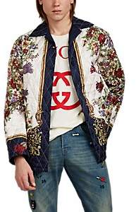 Gucci Men's Floral Silk Twill Jacket - White