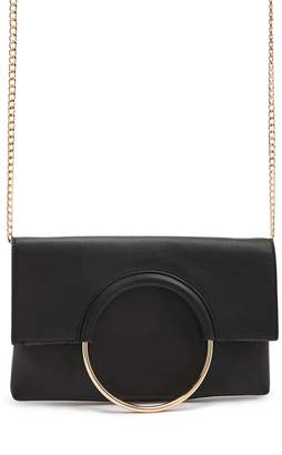 Forever 21 O-Ring Faux Leather Clutch