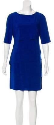 Tahari Arthur S. Levine Short Sleeve Mini Dress