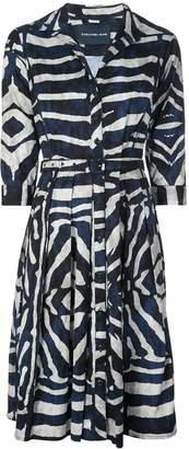 Samantha Sung Zibra print shirt dress
