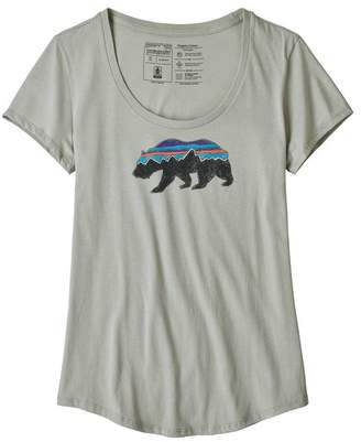Patagonia Women's Fitz Roy Bear Organic Scoop T-Shirt
